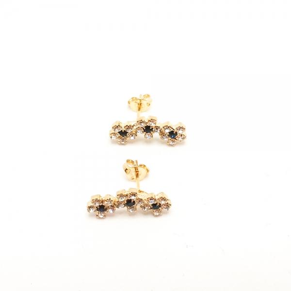 Cercei placati cu aur SaraTremo 3