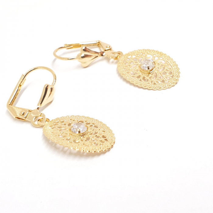 Cercei placati cu aur SaraTremo [1]