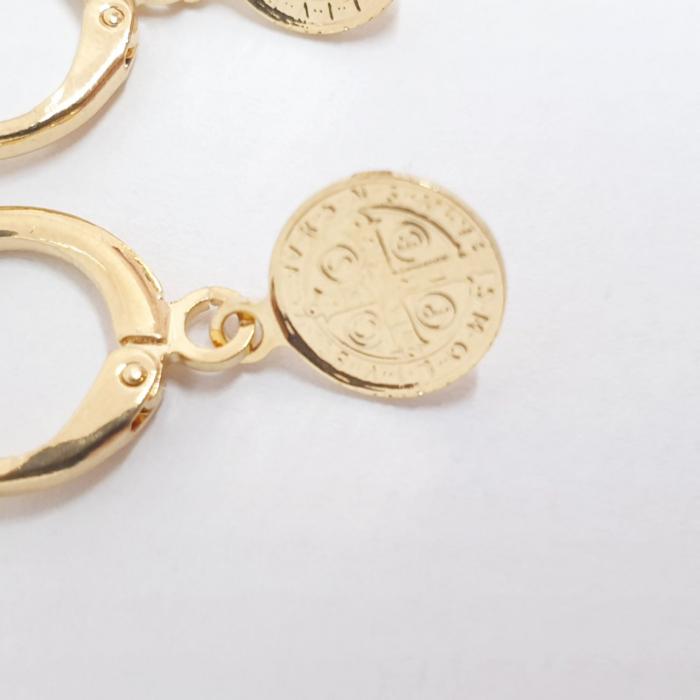 Cercei placati cu aur SaraTremo [2]