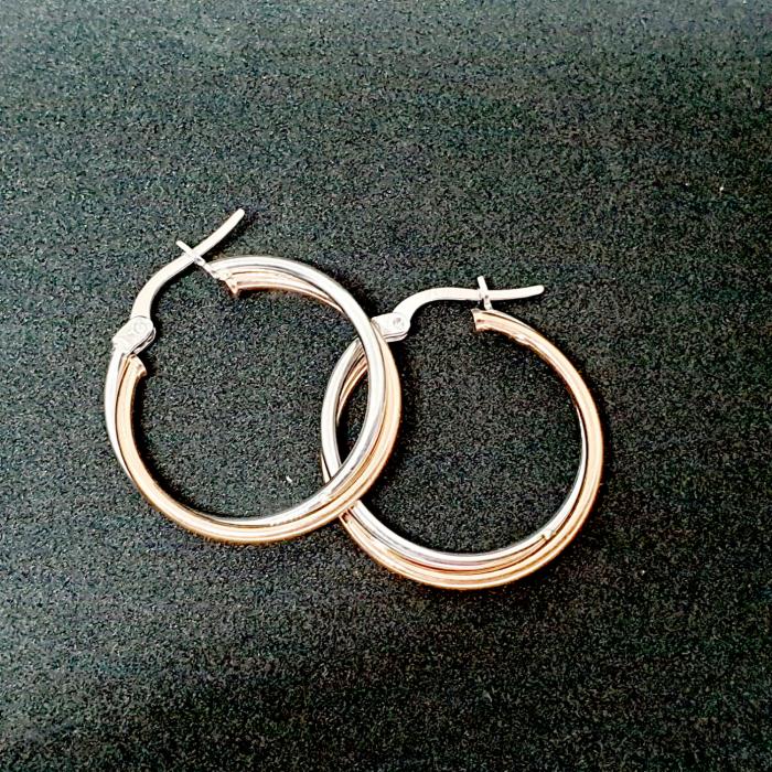 Cercei rotunzi din argint 2.3 cm Coincidence [1]