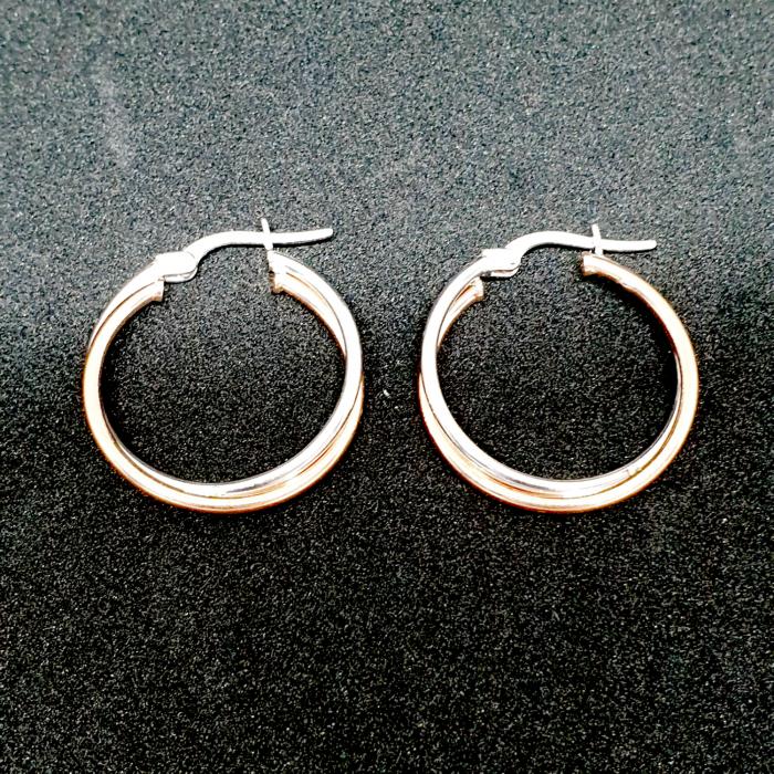 Cercei rotunzi din argint 2.3 cm Coincidence [2]
