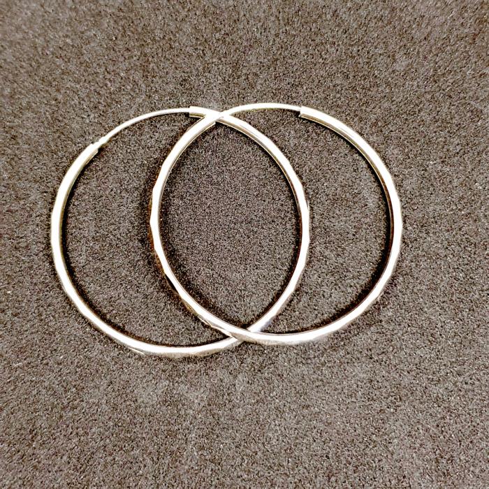 Cercei rotunzi din argint 3.5 cm Katalog [2]