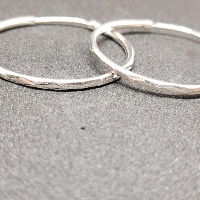 Cercei rotunzi din argint 4.4 cm Transformation [0]