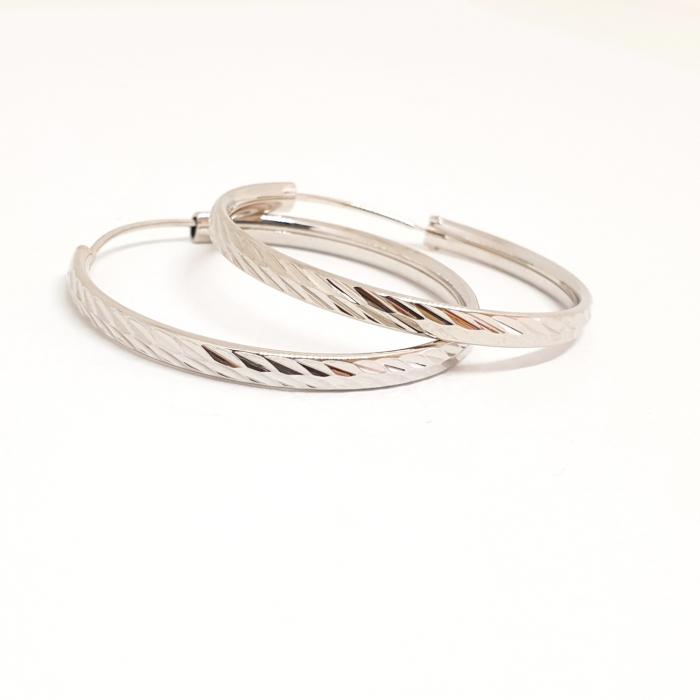 Cercei rotunzi din argint 3.2 cm Lygia 1