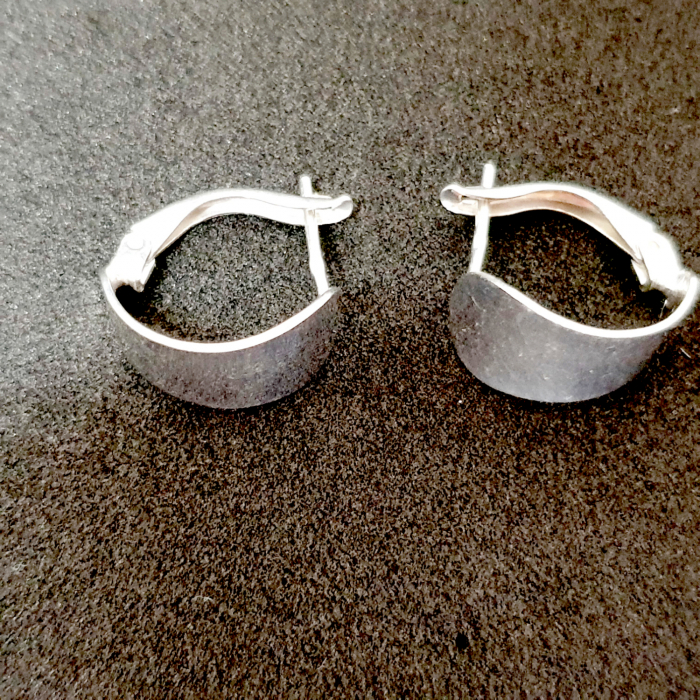 Cercei rotunzi din argint 1.5 cm Gatta 1