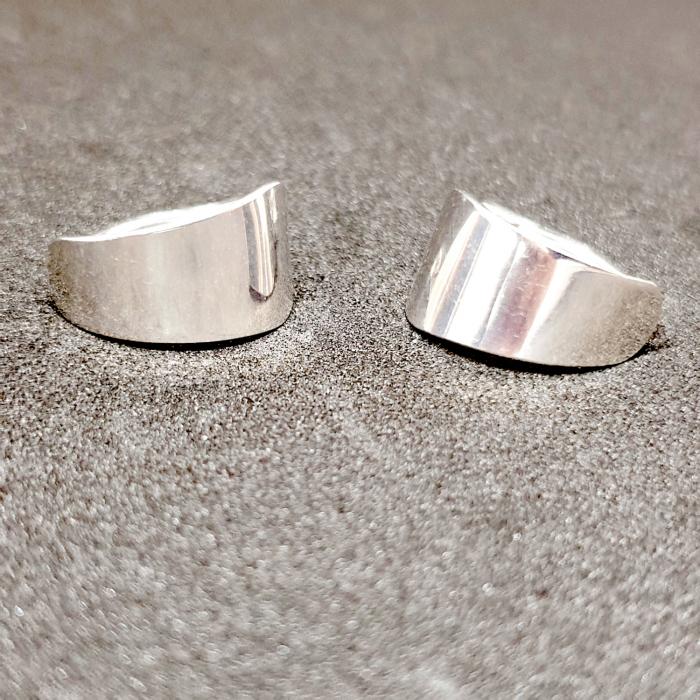 Cercei rotunzi din argint 1.5 cm Gatta 5
