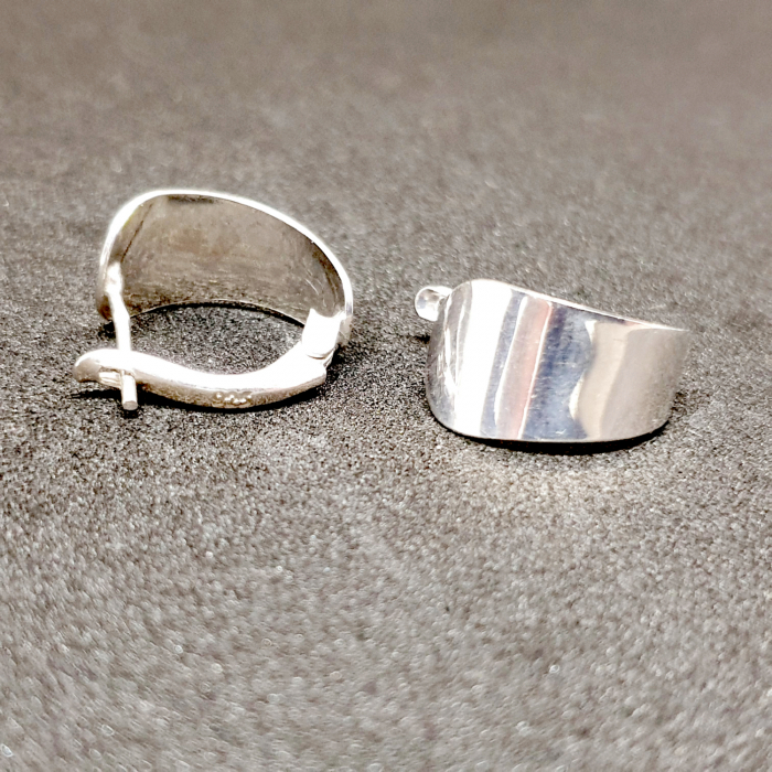 Cercei rotunzi din argint 1.5 cm Gatta [3]