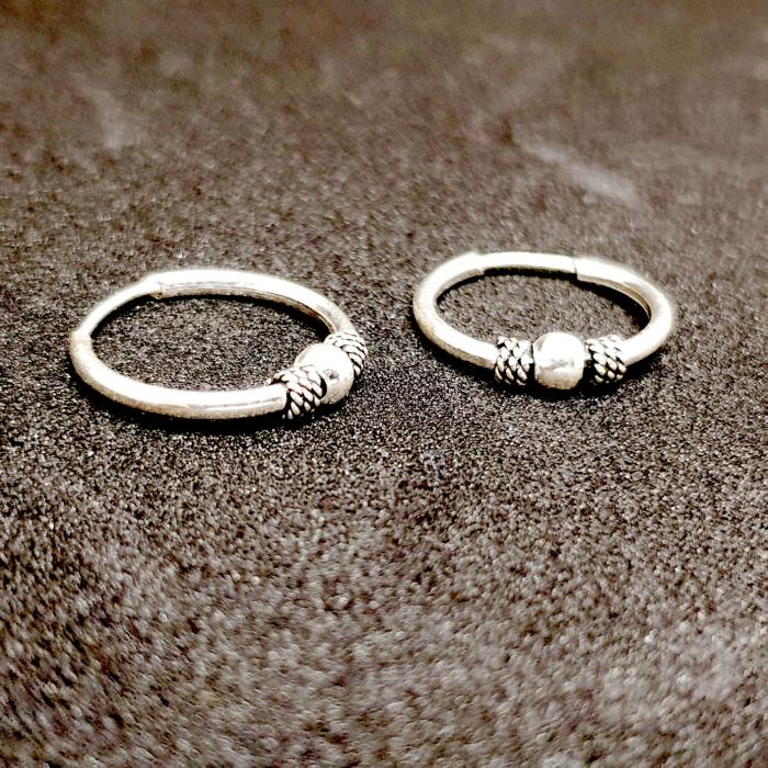 Cercei rotunzi din argint pentru botez 1.5 cm Precious Silver 1