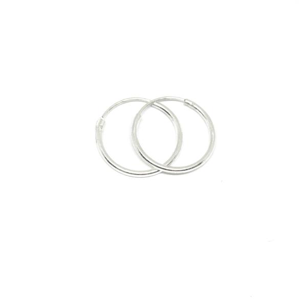 Cercei rotunzi din argint pentru botez 1.5 cm Unlimited 0