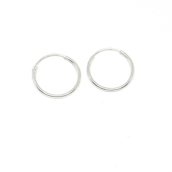 Cercei rotunzi din argint pentru botez 1.5 cm Unlimited 1