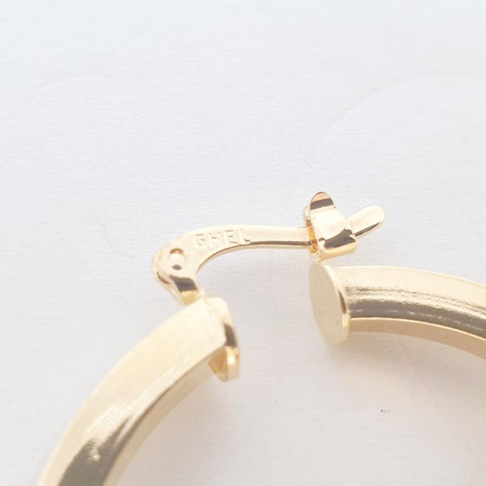 Cercei rotunzi placati cu aur 3.5 cm Cutee [3]
