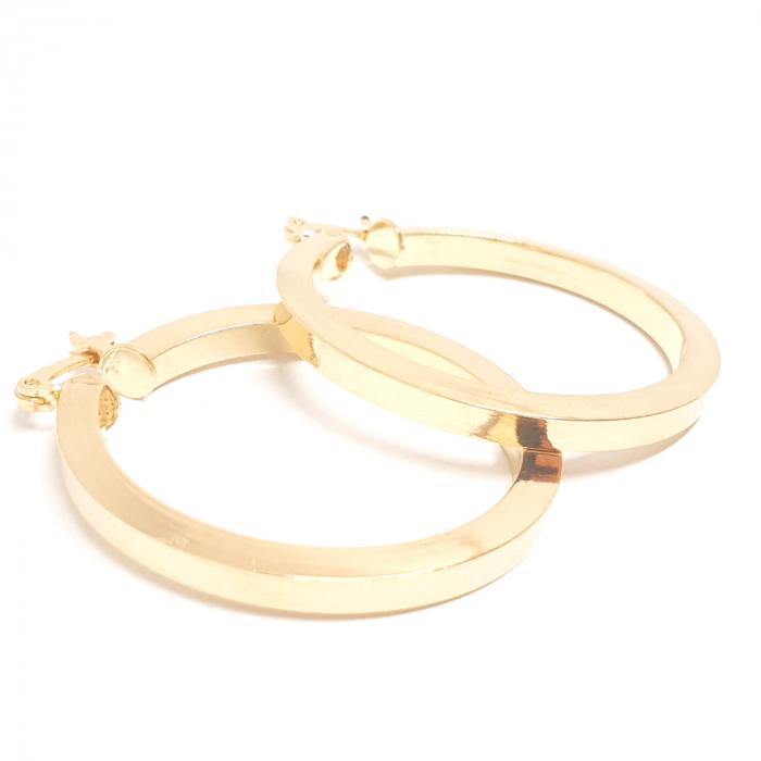 Cercei rotunzi placati cu aur 3.5 cm Cutee [0]