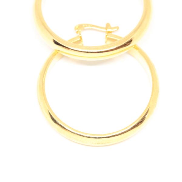 Cercei rotunzi placati cu aur 3.6 cm Platon 3