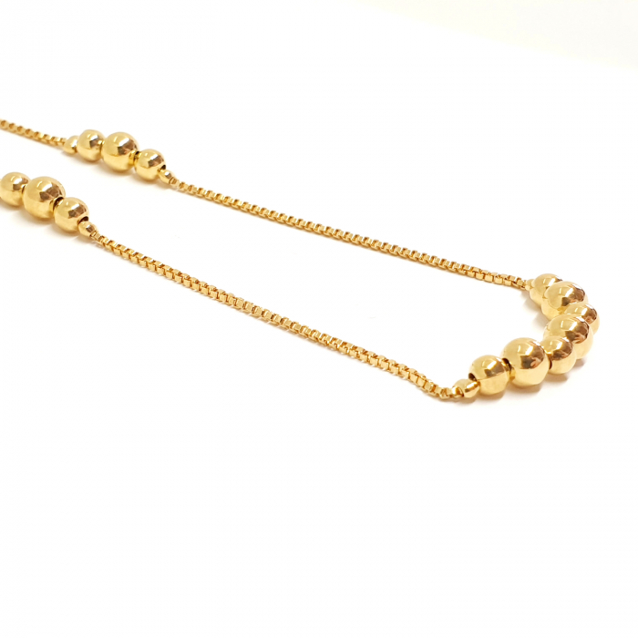 Colier reglabil luxury placat cu aur Princess [3]