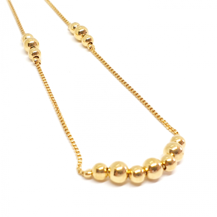 Colier reglabil luxury placat cu aur Princess [1]