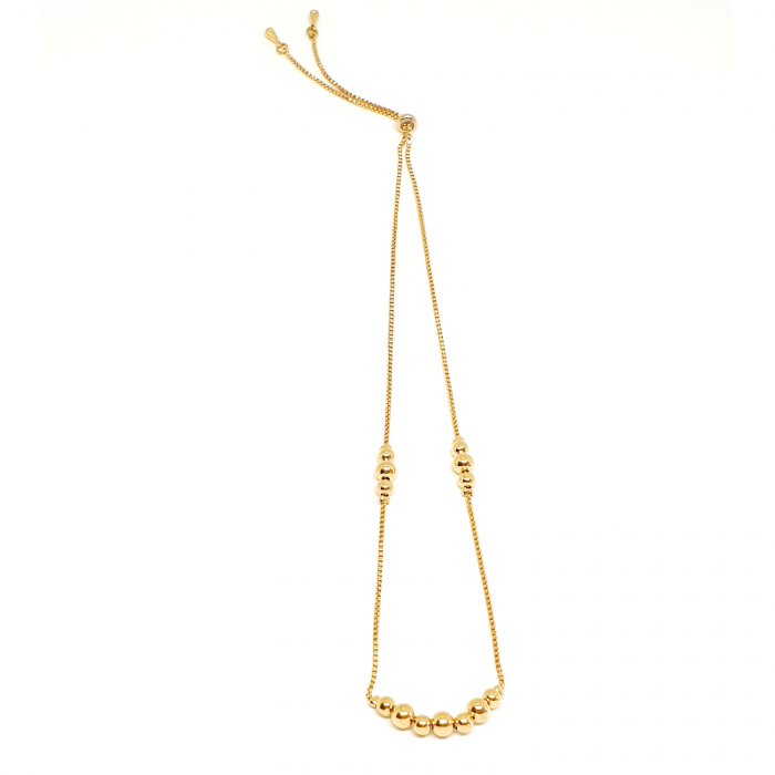 Colier reglabil luxury placat cu aur Princess [0]