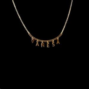 Colier personalizat placat cu aur SaraTremo 12