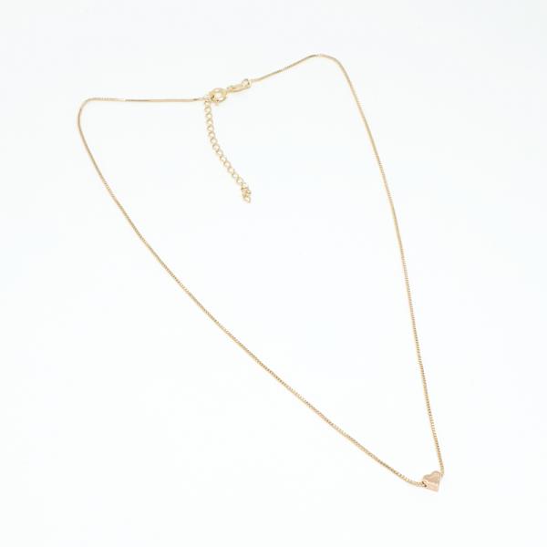 Colier cu inimioara placat cu aur SaraTremo 6