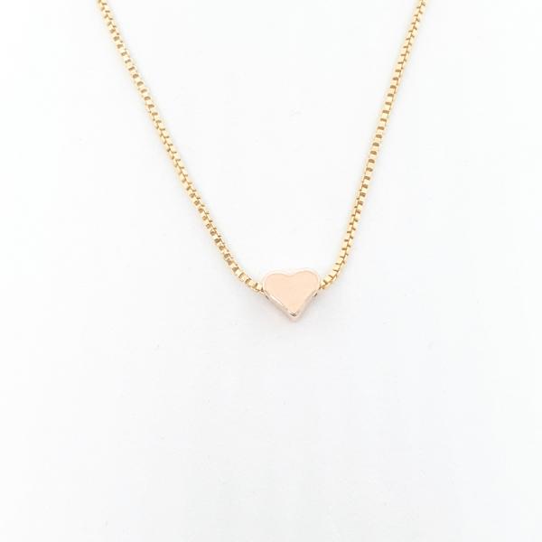 Colier cu inimioara placat cu aur SaraTremo 1