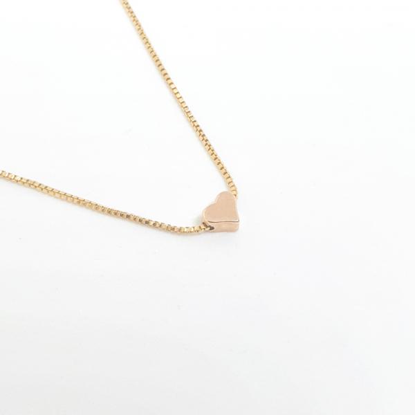 Colier cu inimioara placat cu aur SaraTremo 2