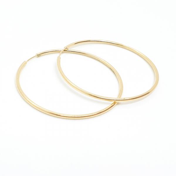 Cercei rotunzi placati cu aur SaraTremo 0