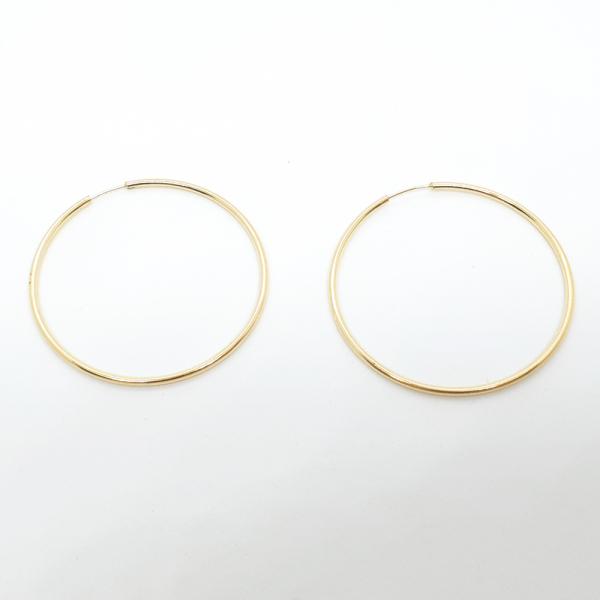 Cercei rotunzi placati cu aur SaraTremo 2