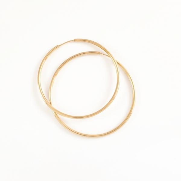 Cercei rotunzi placati cu aur SaraTremo 1