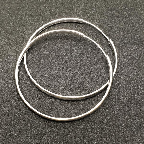 Creole 5.5 cm Silver din argint rodiat