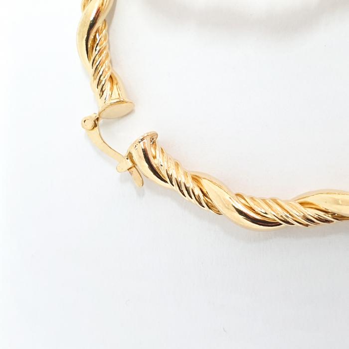 Creole luxury 4.7 cm impletite placate cu aur Golden Waterfall [3]