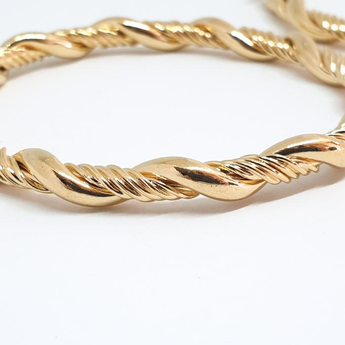 Creole luxury 6 cm impletite placate cu aur Niagara 1