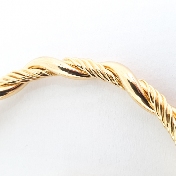 Creole luxury 4.7 cm impletite placate cu aur Golden Waterfall [2]