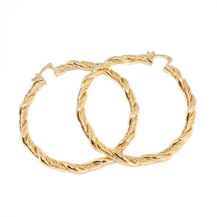 Creole luxury 6 cm impletite placate cu aur Niagara 0
