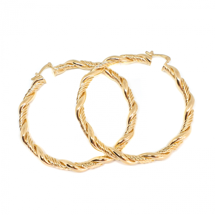 Creole luxury 4.7 cm impletite placate cu aur Golden Waterfall [1]