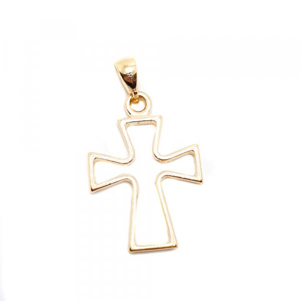 Cruce masiva placata cu aur SaraTremo 0