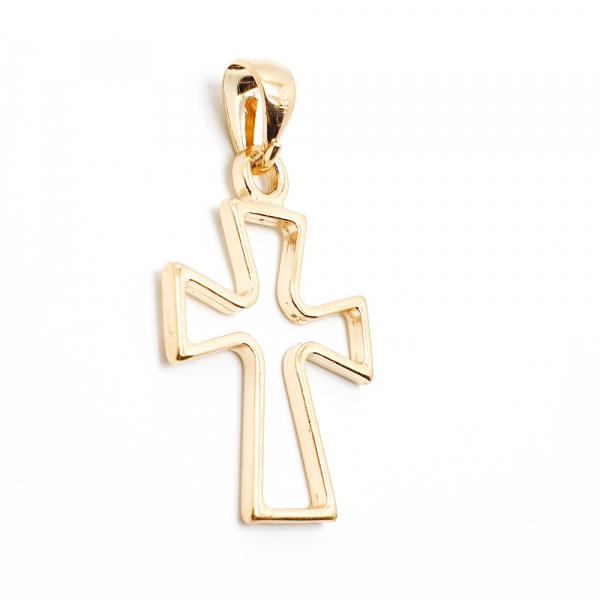 Cruce masiva placata cu aur SaraTremo 1