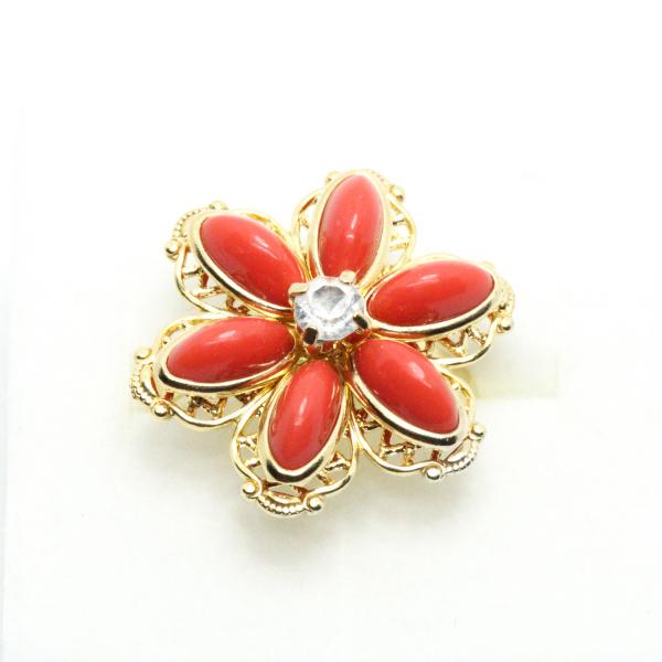 Inel cu floare mare pentru femei placat cu aur Yearn 3