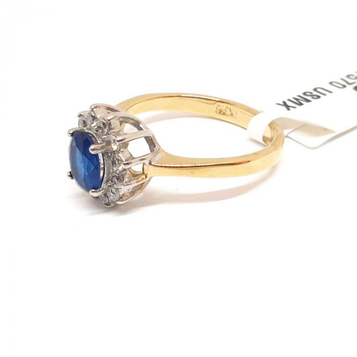 Inel cu piatra mare placat cu aur Durra [3]