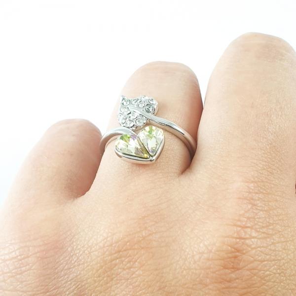 Inel placat cu aur alb SaraTremo 3