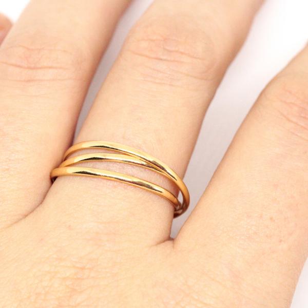 Set de 3 inele placate cu aur Society [2]
