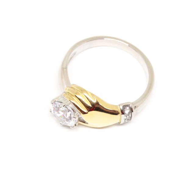 Inel placat cu aur Diamonds Lover 0