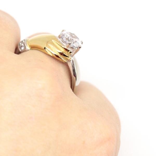 Inel placat cu aur Diamonds Lover 4