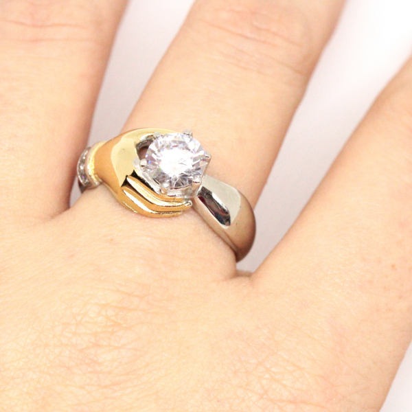 Inel placat cu aur Diamonds Lover 3