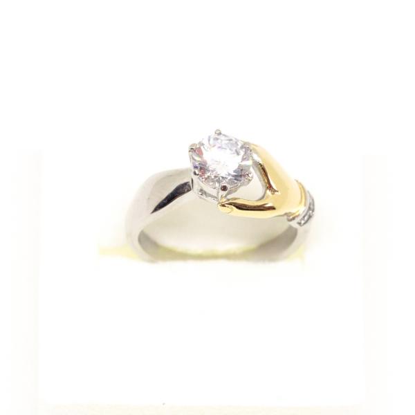 Inel placat cu aur Diamonds Lover 1