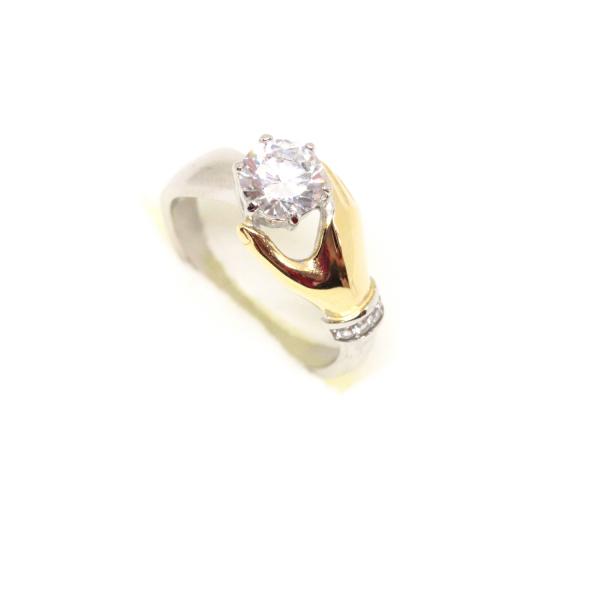Inel placat cu aur Diamonds Lover 2