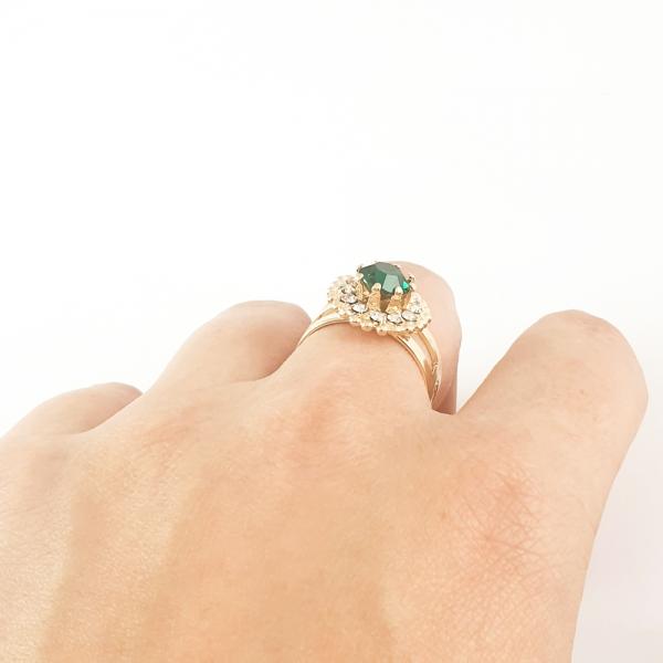 Inel placat cu aur SaraTremo 6