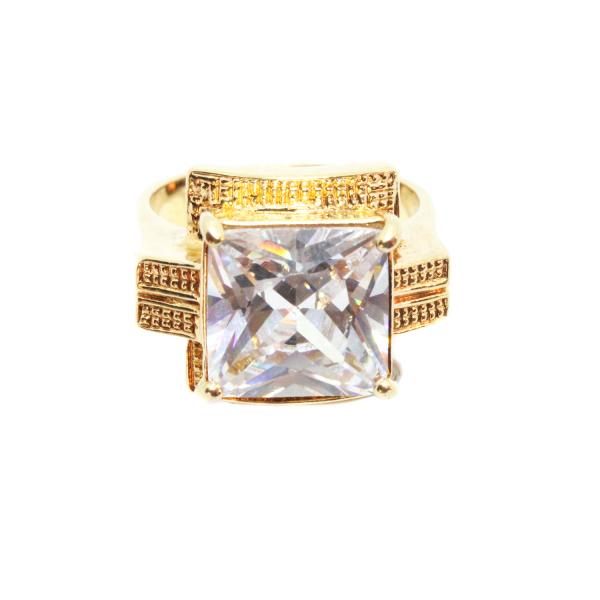 Inel tip ghiul pentru femei placat cu aur Kare 2