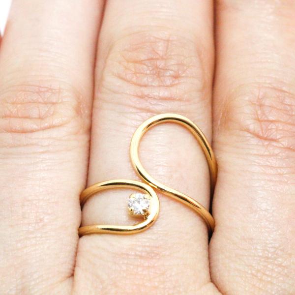 Inel placat cu aur SaraTremo [3]