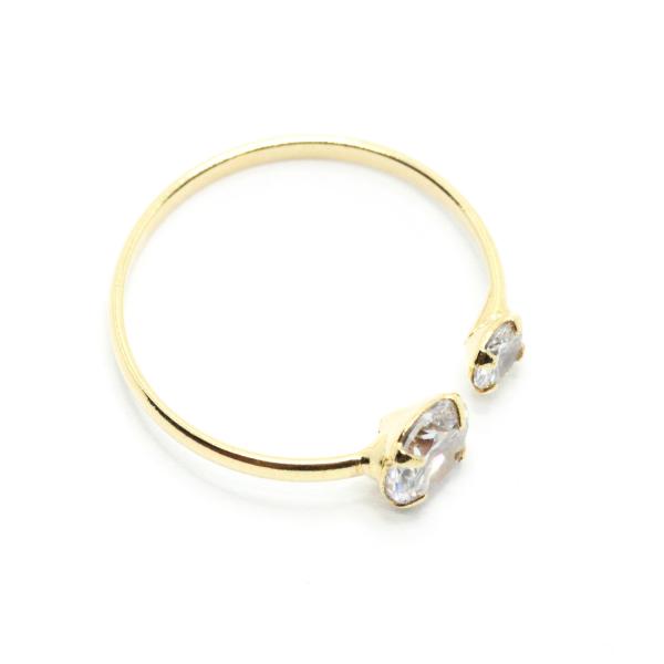 Inel reglabil placat cu aur SaraTremo [1]