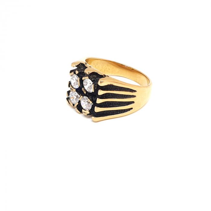 Inel tip ghiul unisex placat cu aur Kreator 2