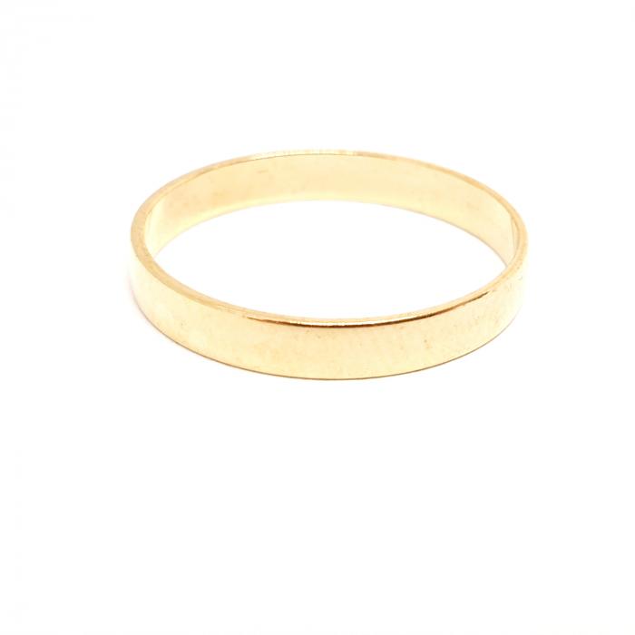 Inel tip verigheta placat cu aur SaraTremo [1]